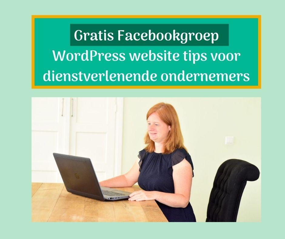 Gratis Facebookgroep WordPress website tips voor dienstverlenende ondernemers