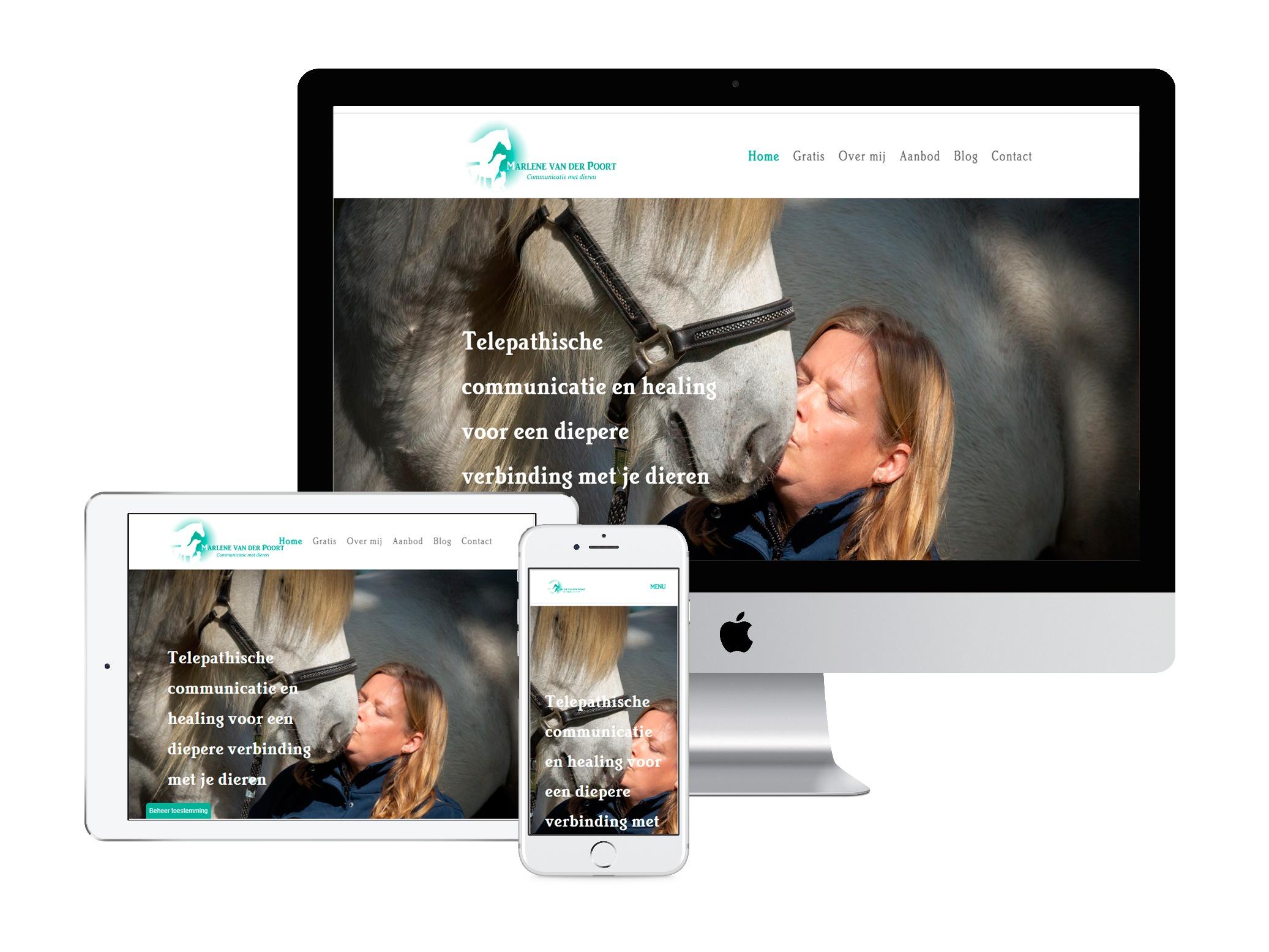 Marlene van der Poort portfolio WensWebdesign